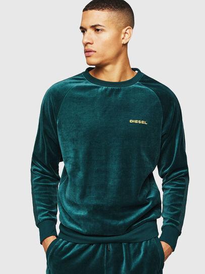 Diesel - UMLT-MAX, Dark Green - Sweaters - Image 1