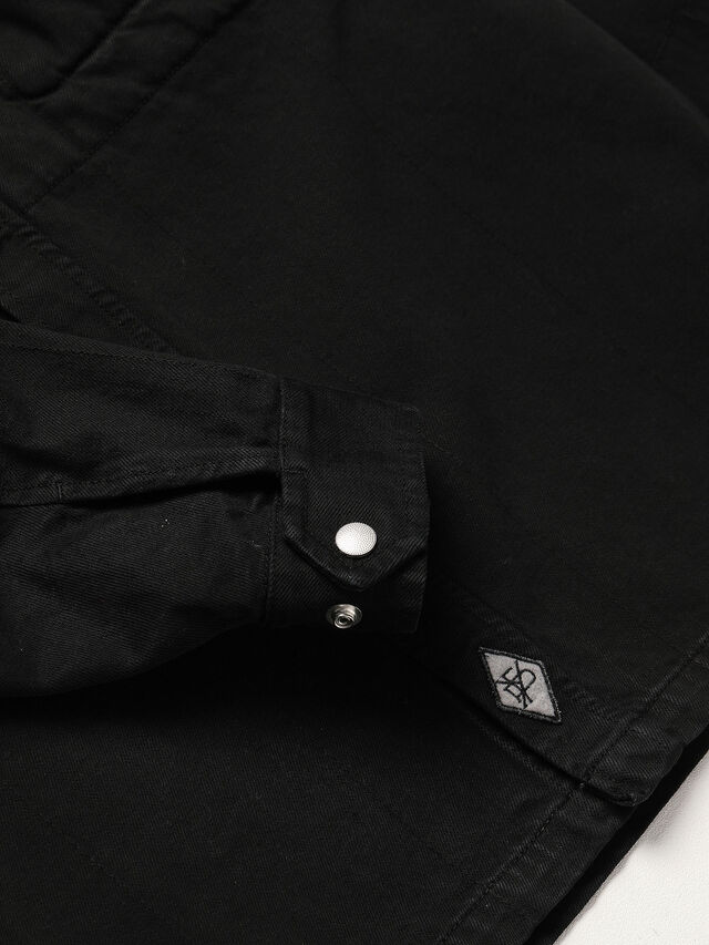 Diesel - GR02-B301, Black - Denim Shirts - Image 4