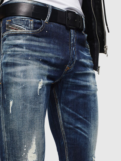 Diesel - Sleenker 0097L, Dark Blue - Jeans - Image 3