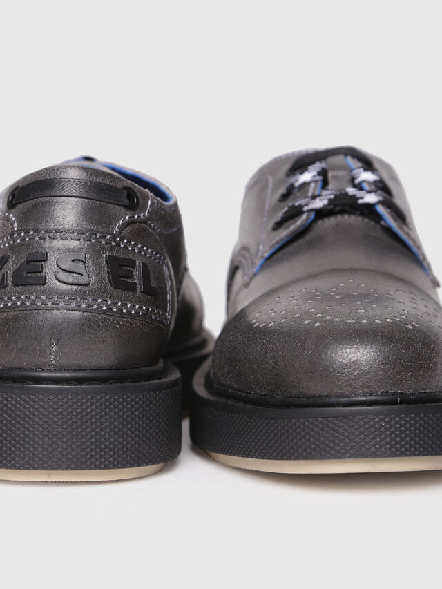 Diesel - D-CAGE DB CT, Grey - Lace Ups and Mocassins - Image 4