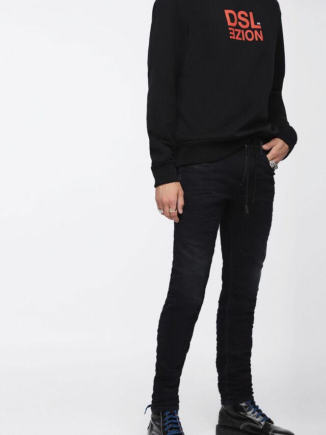 Diesel - Thommer JoggJeans 069CM, Black/Dark grey - Jeans - Image 1