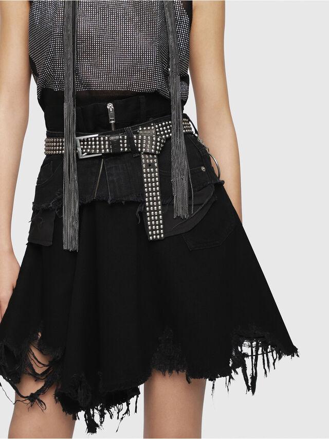 Diesel - BELT HIGH WAIST, Black - Skirts - Image 3