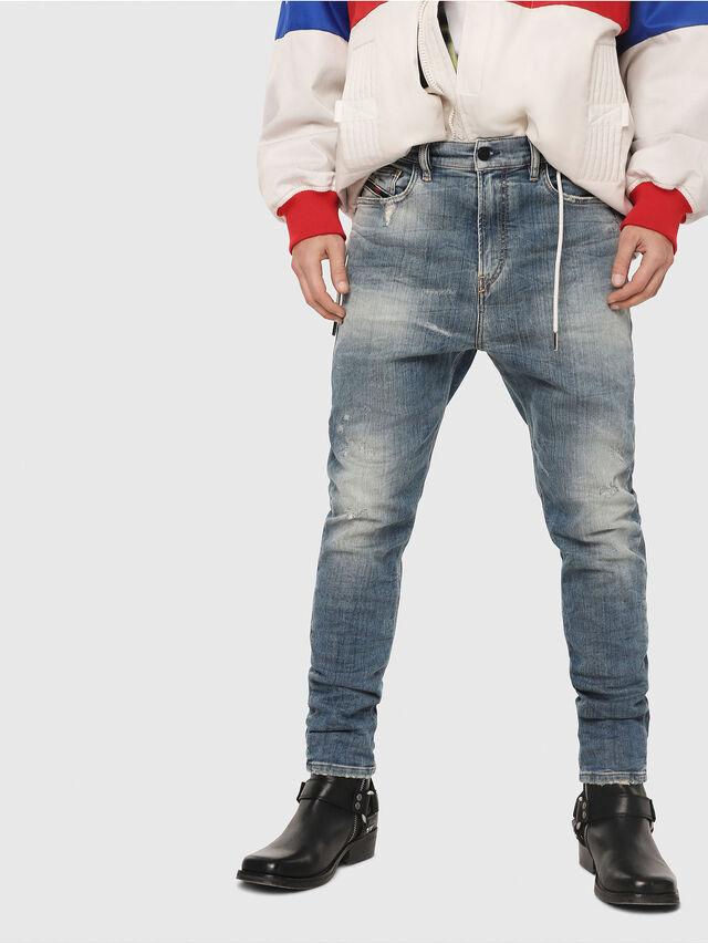 Diesel - D-Vider JoggJeans 087AD, Medium blue - Jeans - Image 1