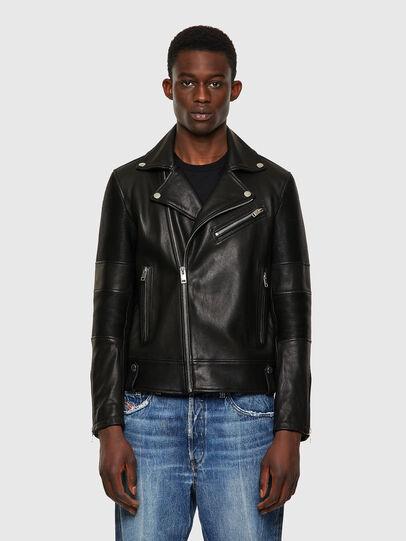 Diesel - L-STARKVILLE-A, Black - Leather jackets - Image 1