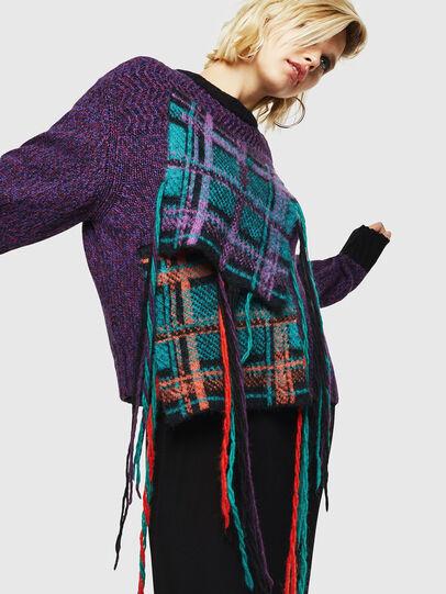 Diesel - M-TARTANN, Violet - Knitwear - Image 4
