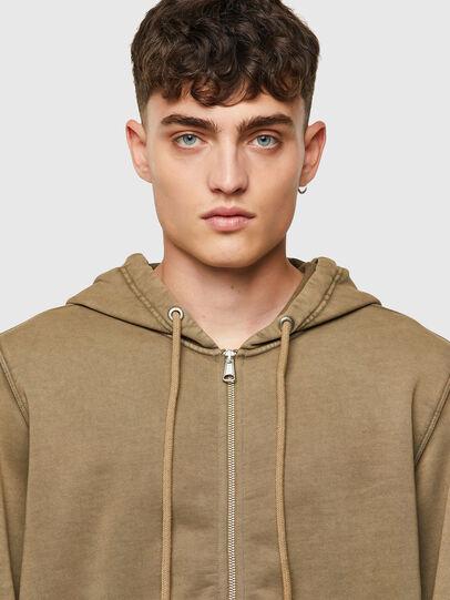 Diesel - S-GIRK-HOOD-ZIP-MOHI, Light Brown - Sweaters - Image 3