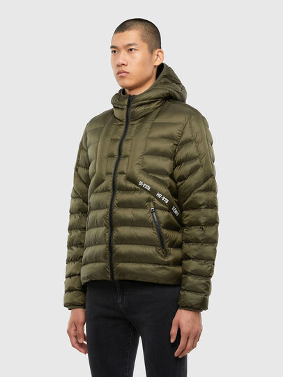Diesel - W-DWAIN, Military Green - Winter Jackets - Image 6
