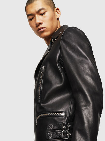 Diesel - L-GOTIV, Black - Leather jackets - Image 8