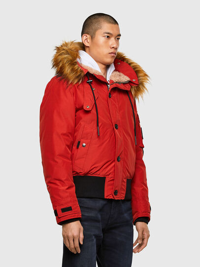 Diesel - W-JAME, Red - Winter Jackets - Image 7