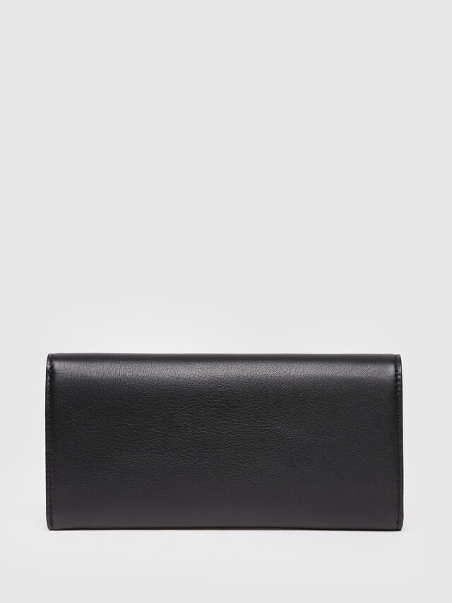 Diesel - 24 A DAY, Black Leather - Continental Wallets - Image 2