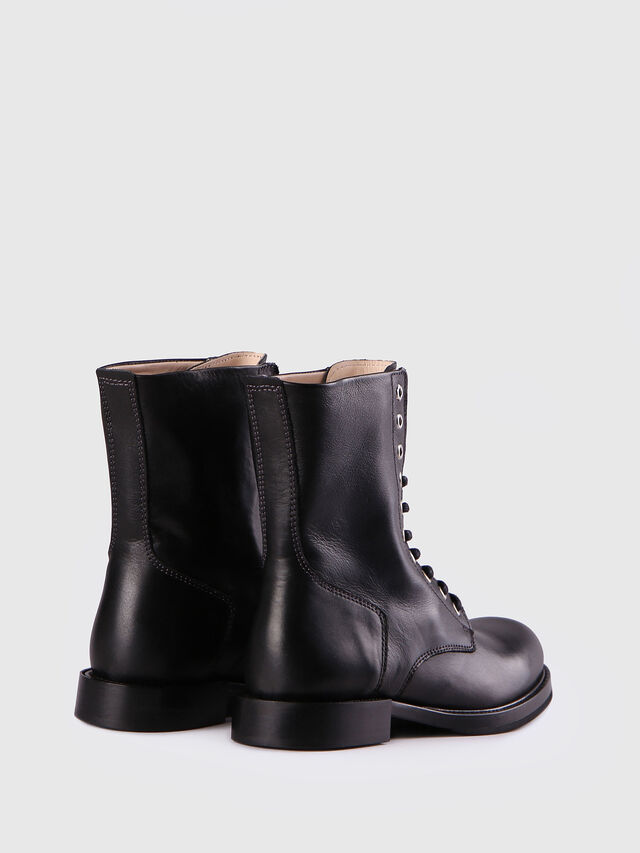 Diesel - D-KOMB BOOT CB, Black Leather - Ankle Boots - Image 3