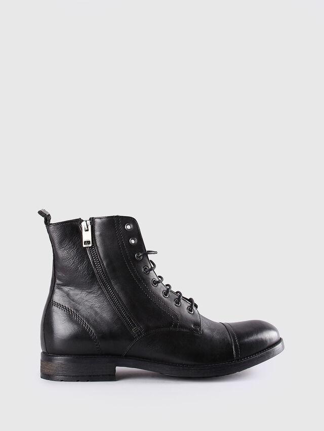 Diesel - D-KALLIEN, Black Leather - Boots - Image 1
