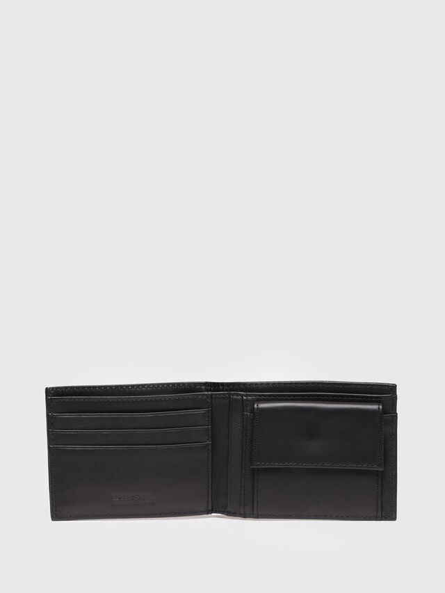 Diesel - HIRESH XS, Black Leather - Small Wallets - Image 3