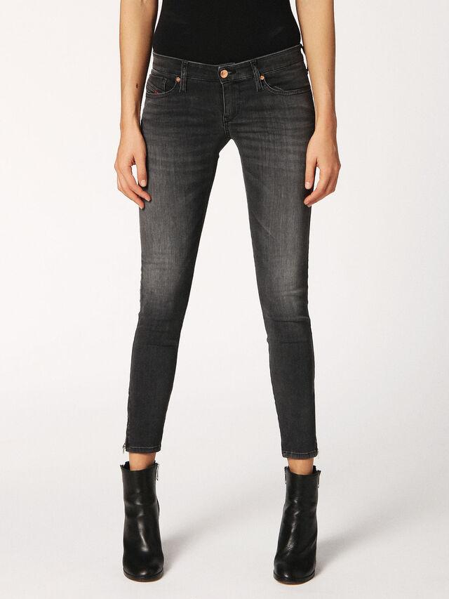 SKINZEE-LOW-ZIP 0688F, Grey Jeans