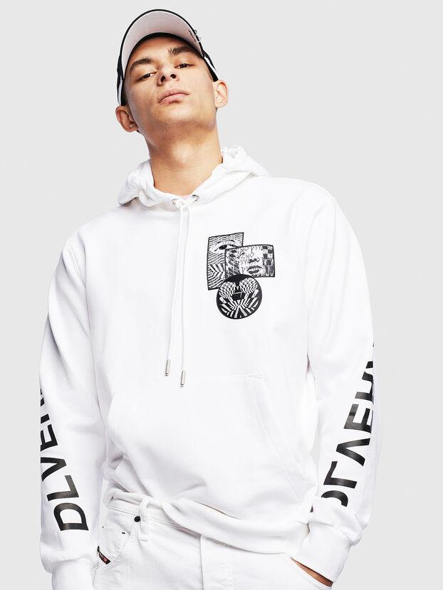 S-GIRK-HOOD-S4, White - Sweaters