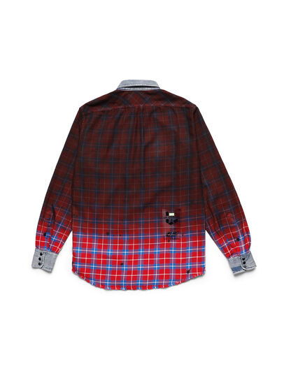 Diesel - D-DEEPCHECK-B, Red - T-Shirts - Image 2