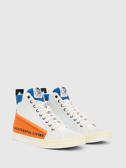 Diesel - S-DVELOWS MID, White/Orange - Sneakers - Image 2