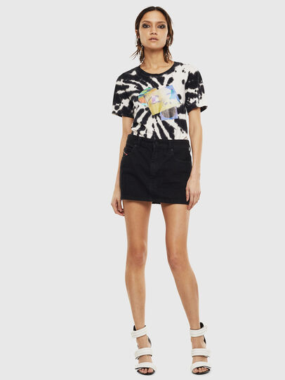 Diesel - T-SILY-S4, Black/White - T-Shirts - Image 5