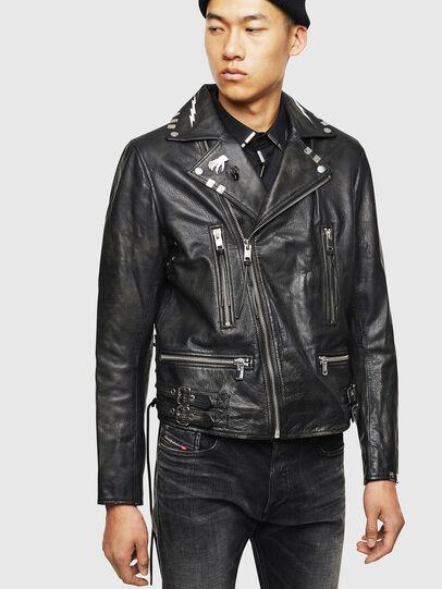 Diesel - L-GOTIV-A, Black - Leather jackets - Image 1