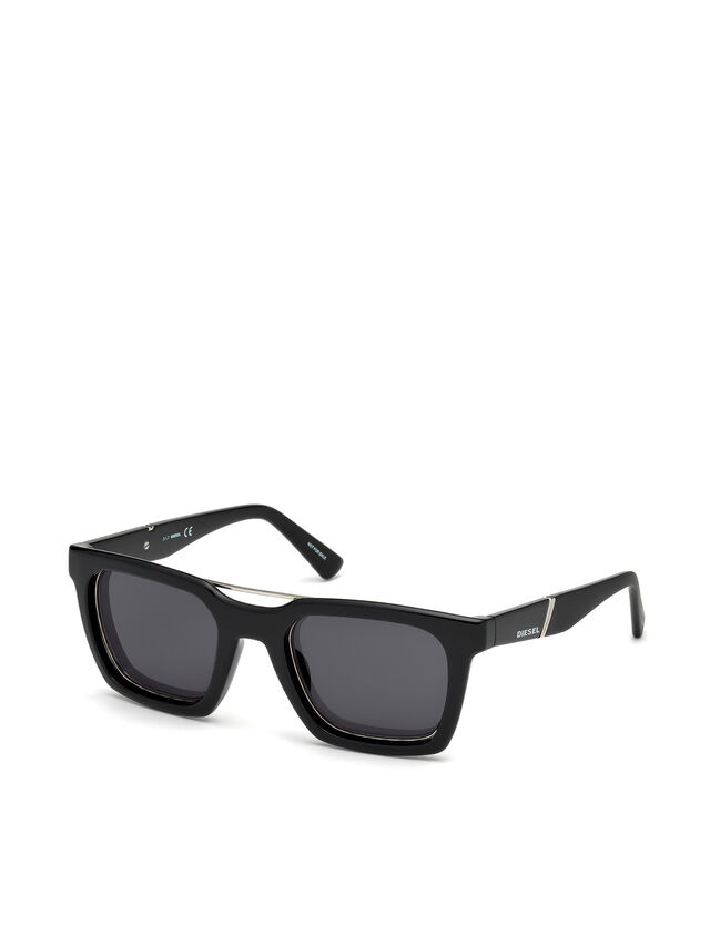 Diesel - DL0250, Bright Black - Sunglasses - Image 4