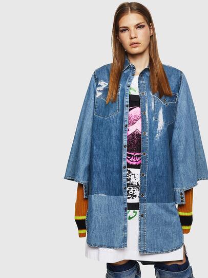 Diesel - DE-MONYA, Medium blue - Dresses - Image 1