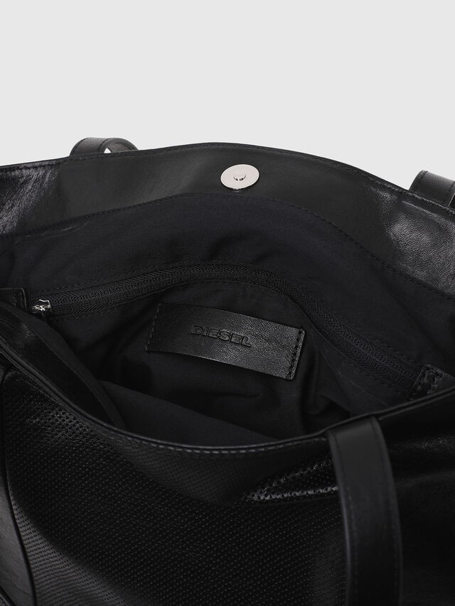 Diesel - L-TOLLE SHOPPER E/W, Black - Shopping and Shoulder Bags - Image 3