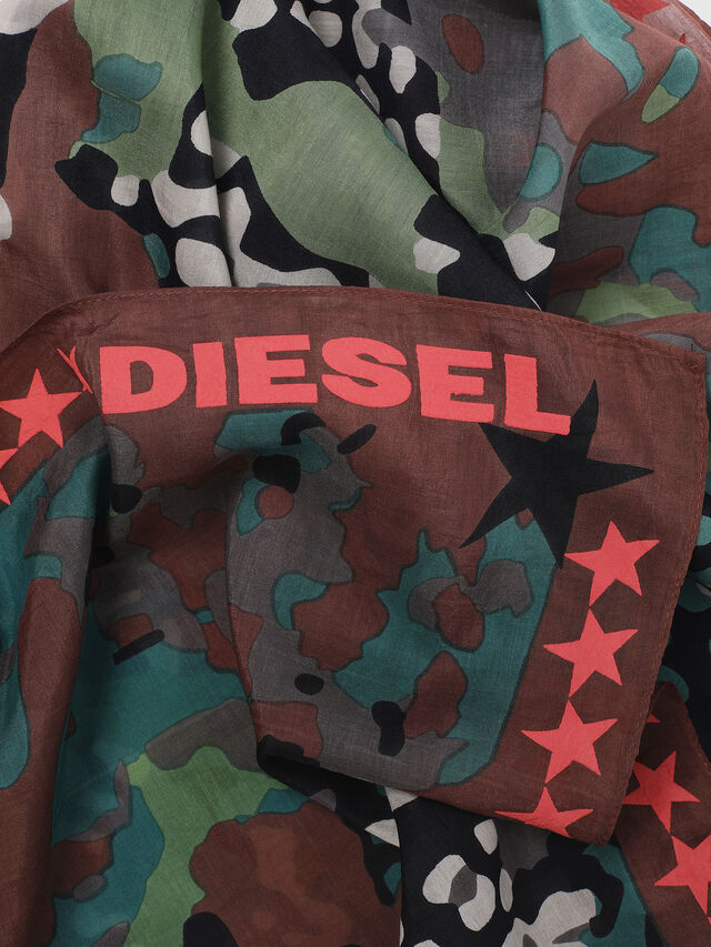 Diesel - S-MIME, Green Camouflage - Scarf - Image 3