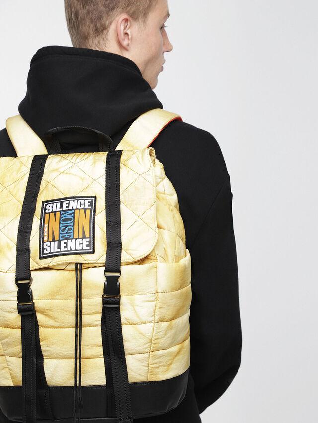 Diesel - F-HEYODA BACK L, Yellow - Backpacks - Image 4