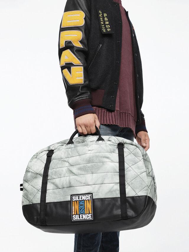 Diesel - F-HEYODA DUFFLE, Silver - Travel Bags - Image 5