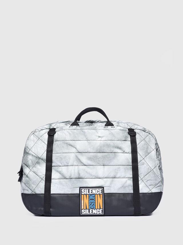 Diesel - F-HEYODA DUFFLE, Silver - Travel Bags - Image 1