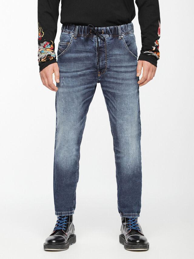 Diesel - Krooley JoggJeans 0699Z, Medium blue - Jeans - Image 1