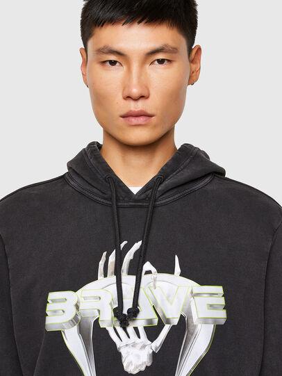 Diesel - S-GIRRIB-HOOD-A71, Black - Sweaters - Image 3