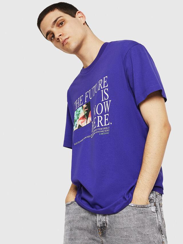 Diesel - T-WALLACE-Y5, Dark Violet - T-Shirts - Image 2