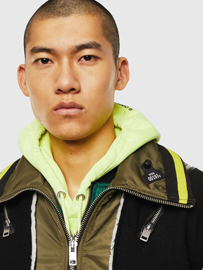 Diesel - W-SHARYN, Black/Green - Winter Jackets - Image 3
