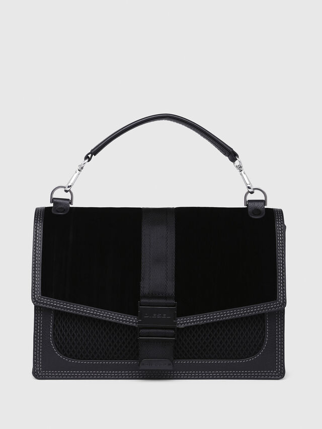 Diesel - MISS-MATCH CROSSBODY, Black/Pink - Crossbody Bags - Image 1