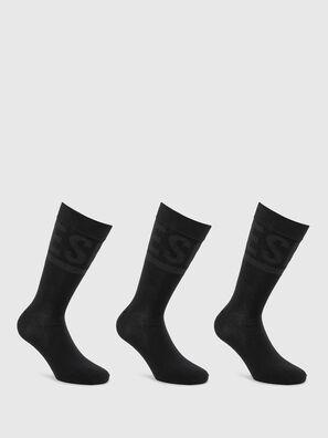 SKM-HERMINE-THREEPAC, Black - Socks