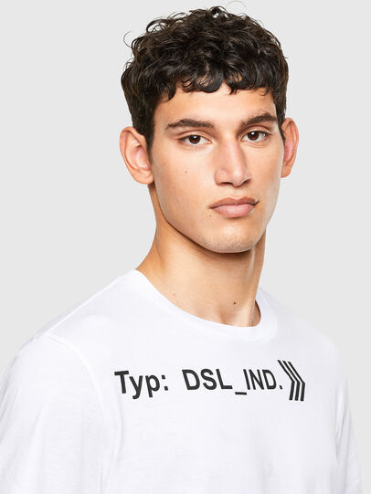 Diesel - T-JUST-A42, White - T-Shirts - Image 3