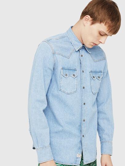 Diesel - D-LEO, Blue Jeans - Denim Shirts - Image 1