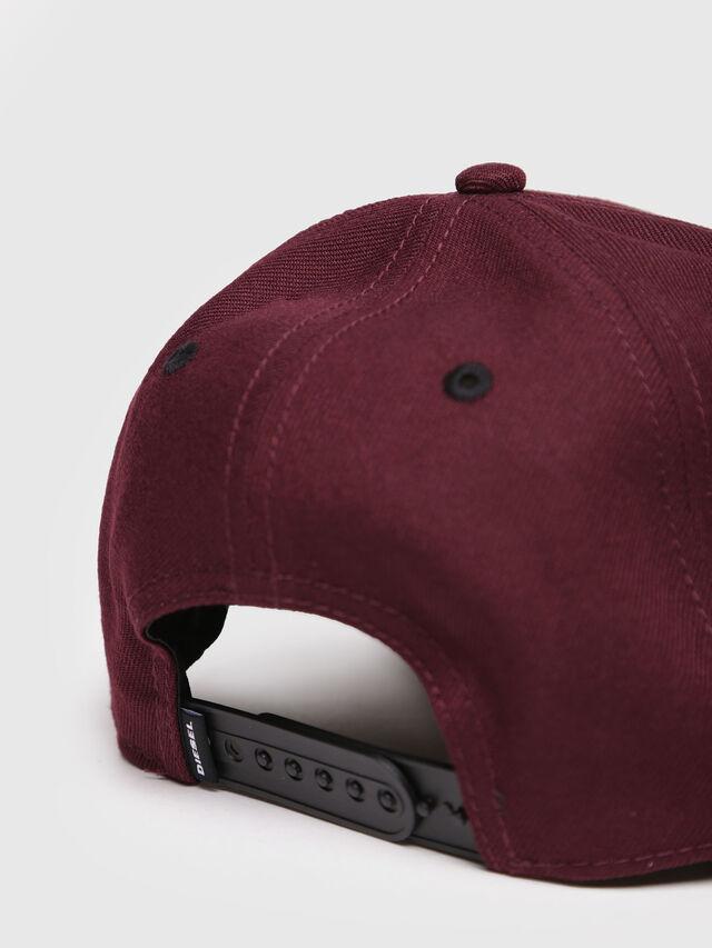 Diesel - CAKERYM-MAX, Burgundy - Caps, Hats and Gloves - Image 3
