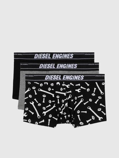 Diesel - UMBX-DAMIENTHREEPACK, Black/Grey - Trunks - Image 1