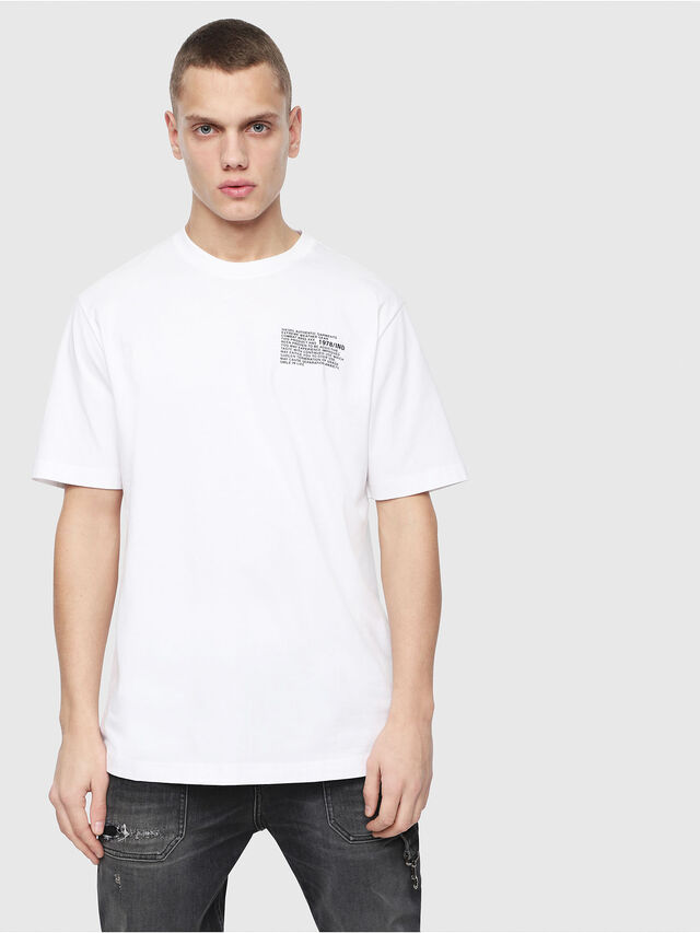 Diesel - T-JUST-Y1, White - T-Shirts - Image 1