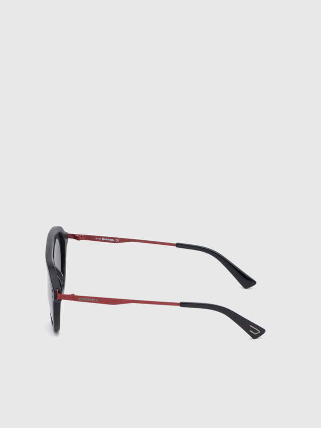 Diesel - DL0277, Black/Red - Eyewear - Image 3