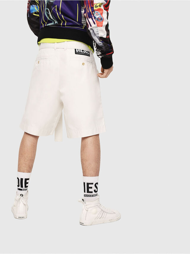 Diesel - P-TOSHI-SHORT, White - Shorts - Image 2