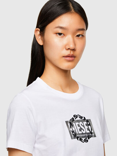 Diesel - T-SILY-R5, White - T-Shirts - Image 3