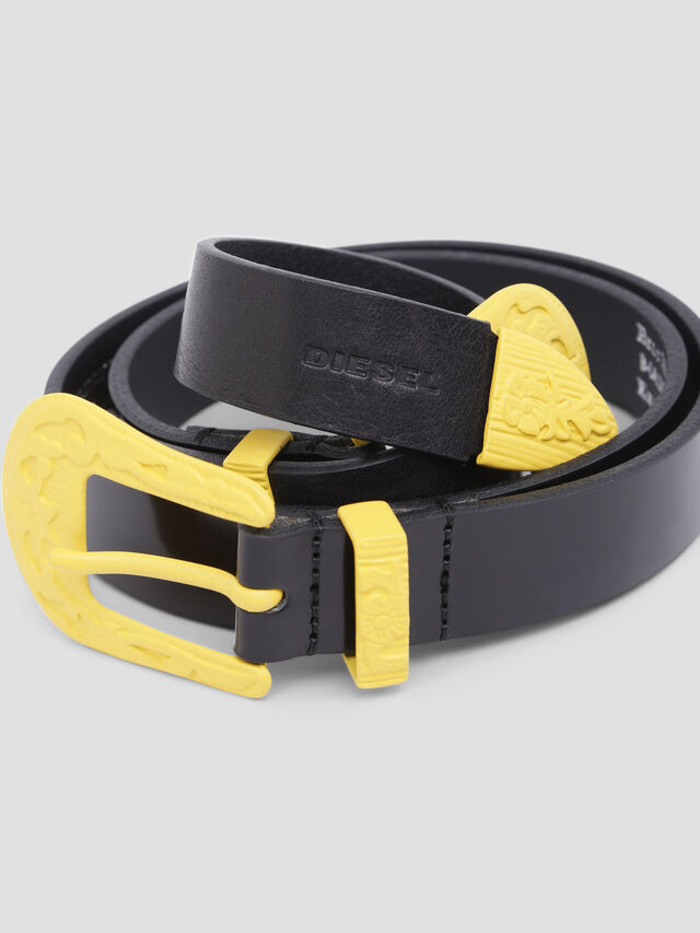 Diesel - B-CALDIERO, Black/Yellow - Belts - Image 2
