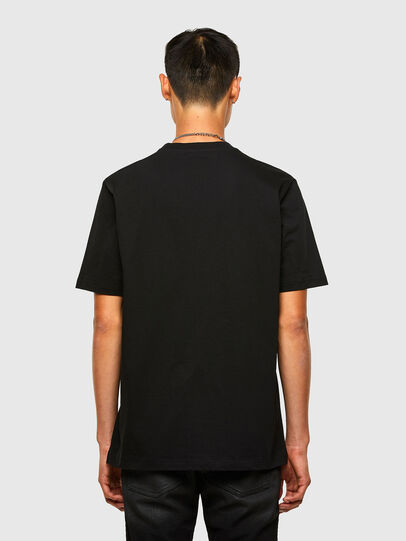 Diesel - T-JUST-SLITS-A30, Black - T-Shirts - Image 2