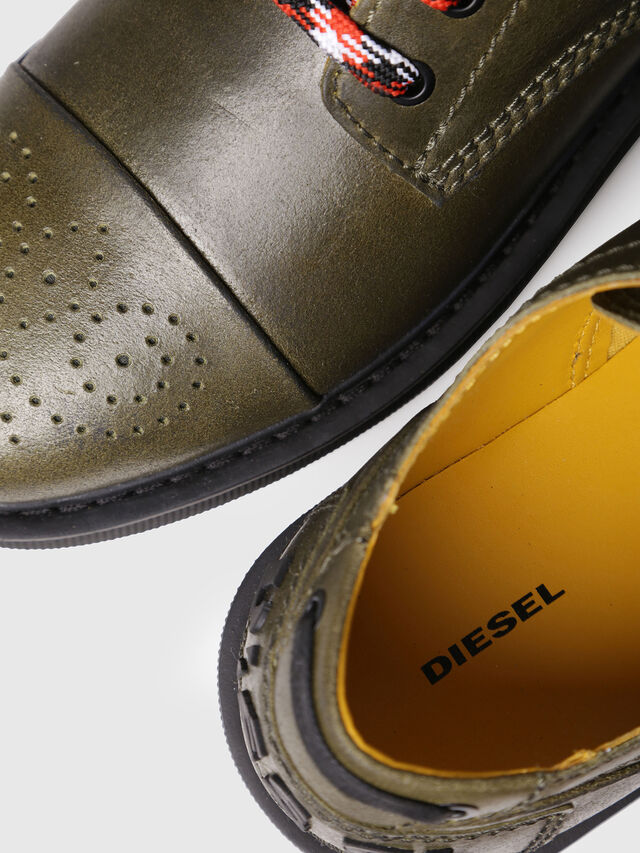 Diesel - D-CAGE DB CT, Olive Green - Lace Ups and Mocassins - Image 4