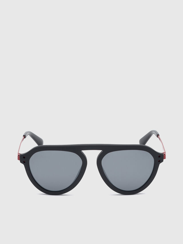 Diesel - DL0277, Black/Red - Eyewear - Image 1