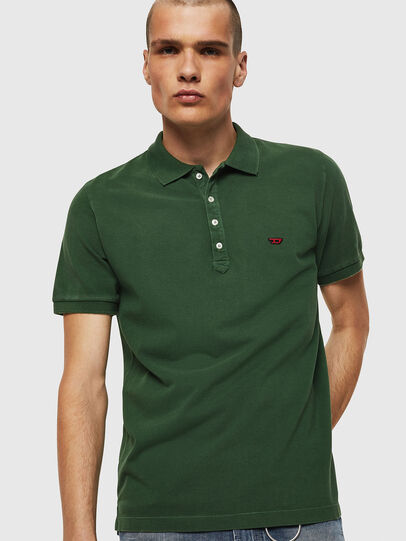 Diesel - T-NIGHT-NEW, Dark Green - Polos - Image 1