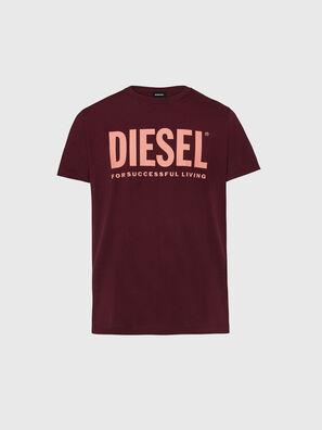 T-DIEGO-LOGO, Bordeaux - T-Shirts